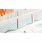 New Arrivals Orange Crush Crib Skirt