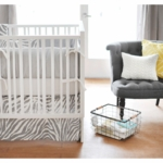 New Arrivals Safari in Gray 4 Piece Baby Crib Bedding Set