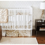 New Arrivals Safari Sand 3 Piece Baby Crib Bedding Set