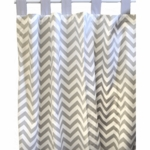 New Arrivals Zig Zag Grey Window Panels