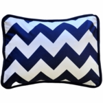 New Arrivals Zig Zag Navy Throw Pillow - 16 x 16