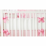 New Arrivals Zig Zag Pink Sugar Crib Bumper
