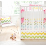 New Arrivals Zig Zag Rainbow 4 Piece Baby Crib Bedding Set