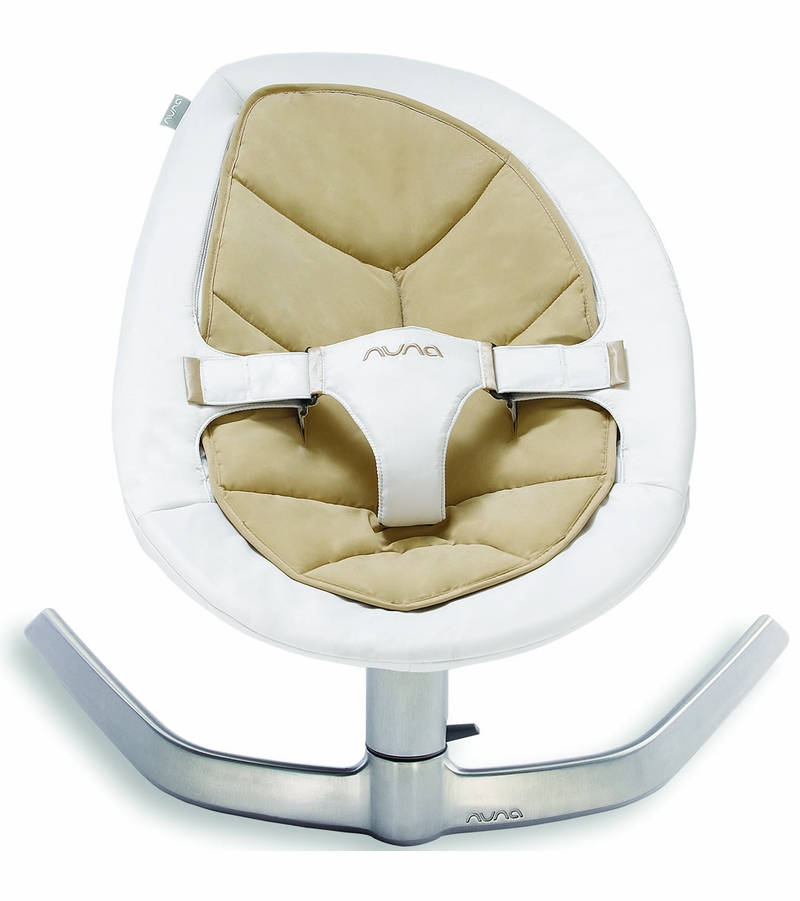 nuna leaf bouncer organic cotton insert bisque