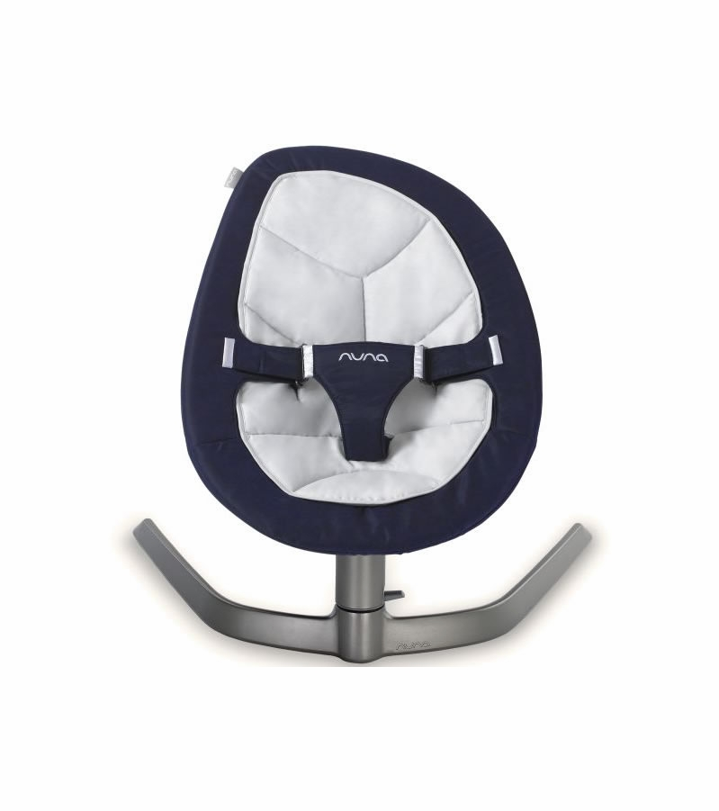 nuna leaf bouncer organic cotton insert navy