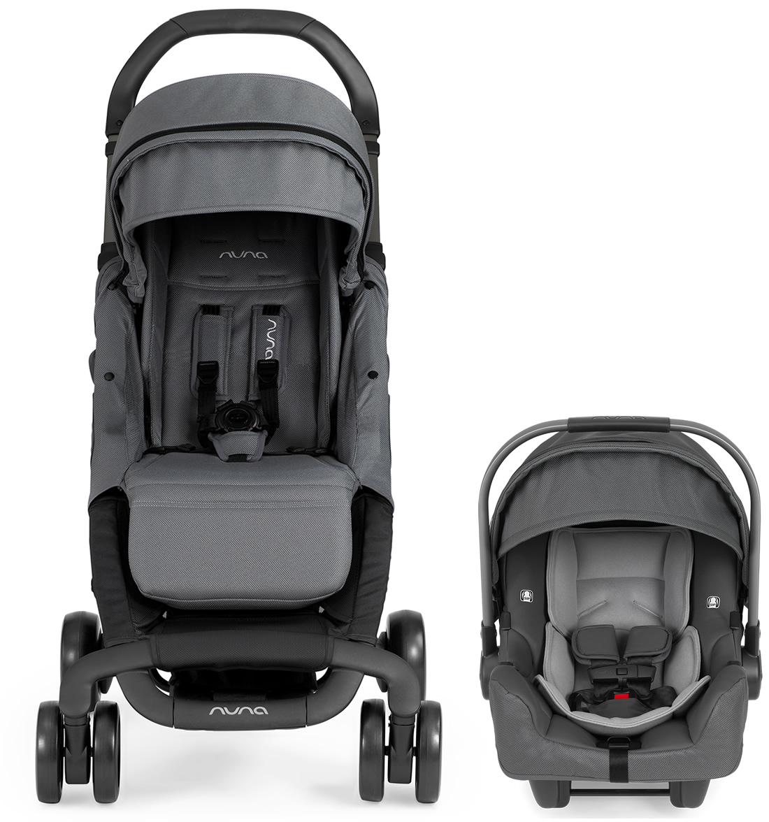 Nuna Pepp Dream Drape Amp Pipa Travel System Graphite