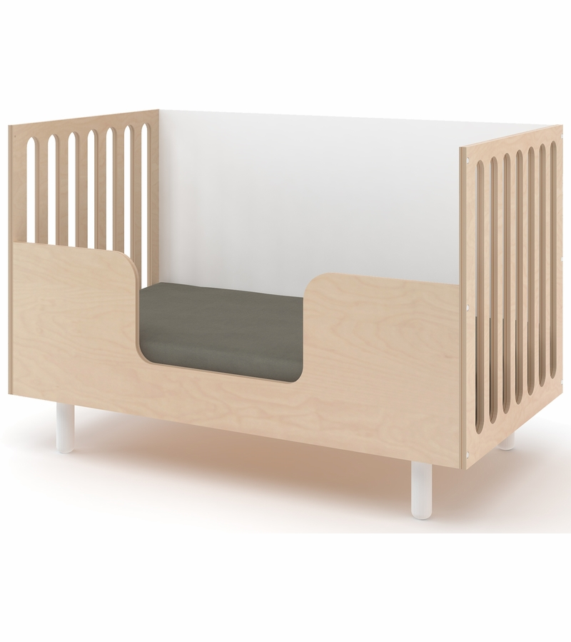 Oeuf Crib Adjust Height White Cot Shown Configured As A