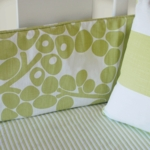 Oilo Crib Sheet in Spring Green