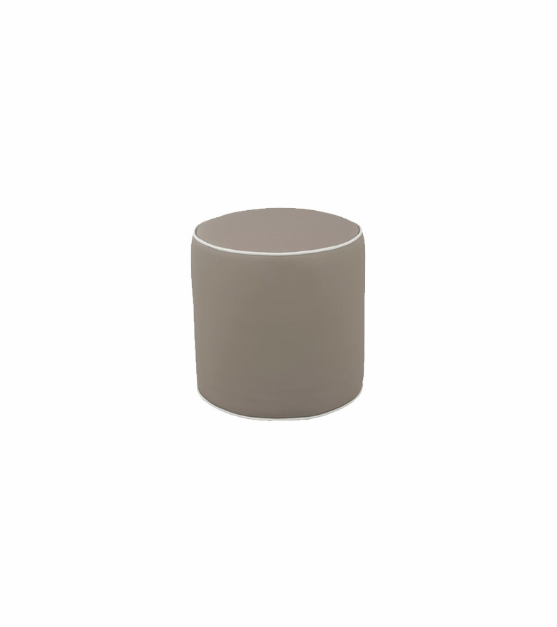 oilo pouf in taupe faux leather. Black Bedroom Furniture Sets. Home Design Ideas