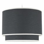 Oilo Solid Double Cylinder Light in Pewter