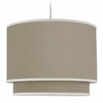 Oilo Solid Double Cylinder Light in Taupe