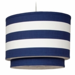 Oilo Stripe Double Cylinder Light in Cobalt Blue