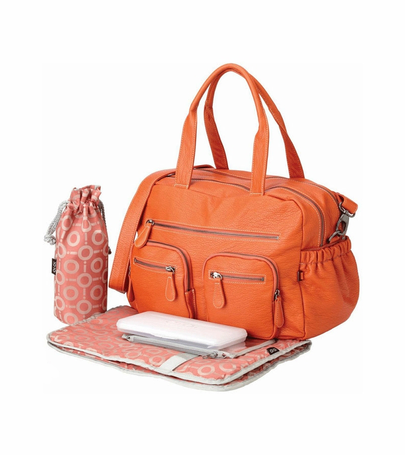 oioi orange buffalo carry all diaper bag. Black Bedroom Furniture Sets. Home Design Ideas