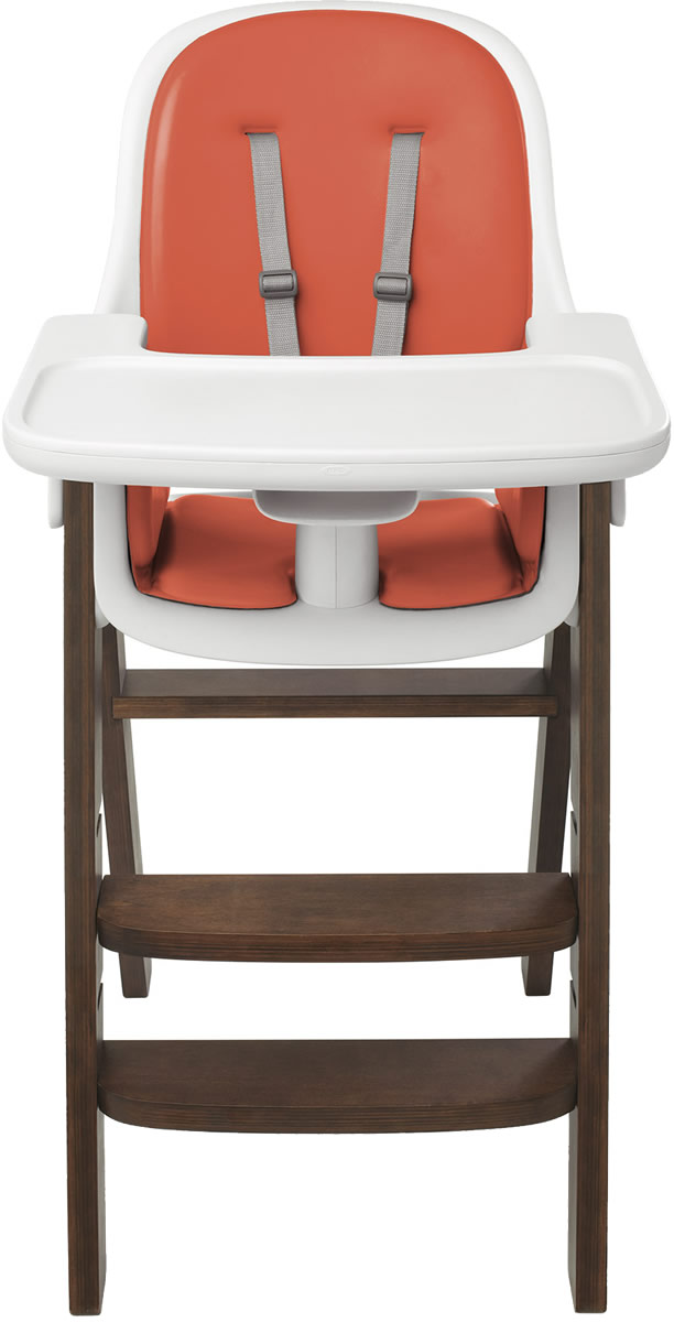 Oxo Tot Sprout High Chair Orange Walnut
