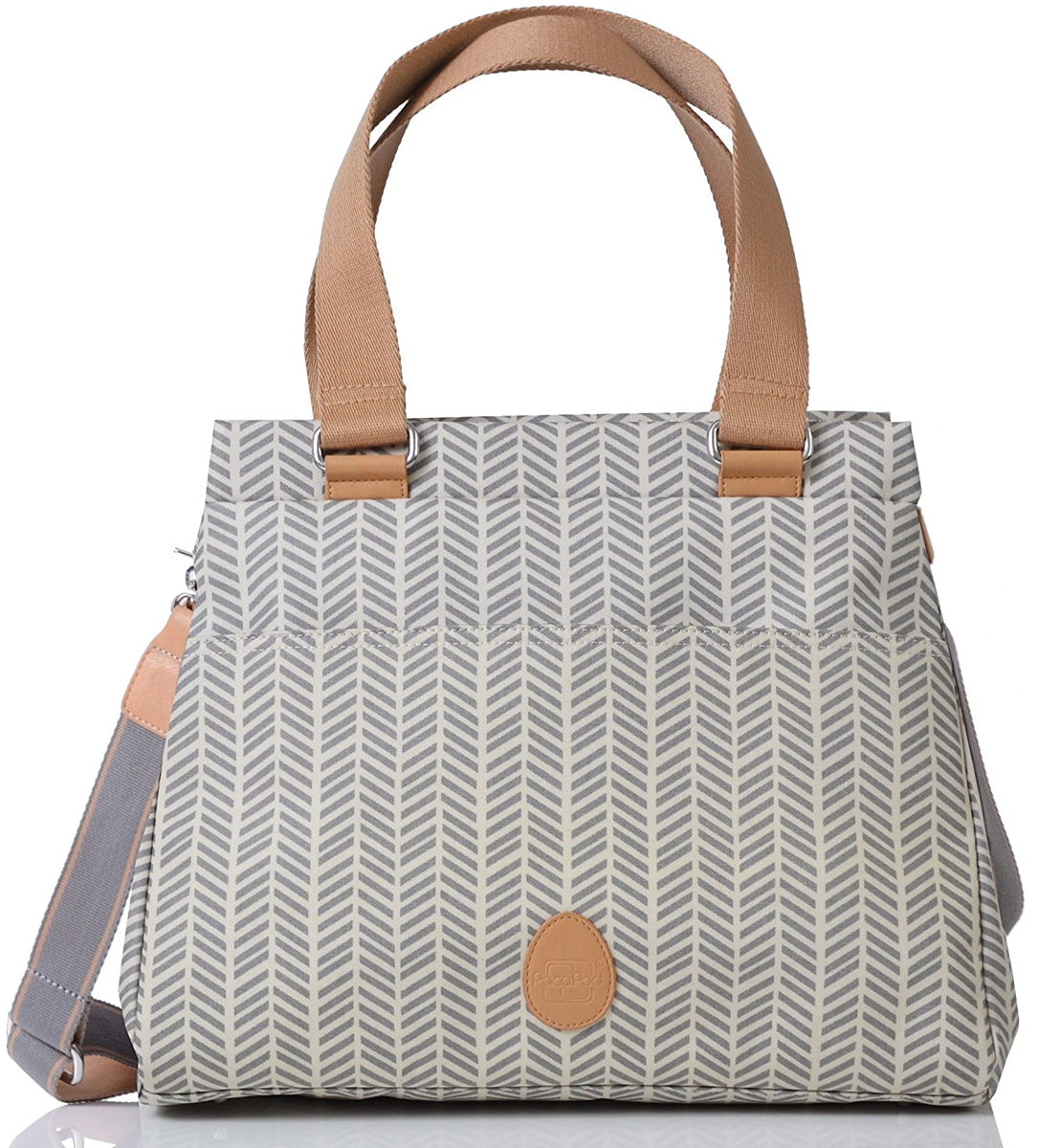 PacaPod Richmond Diaper Bag - Dove Herringbone