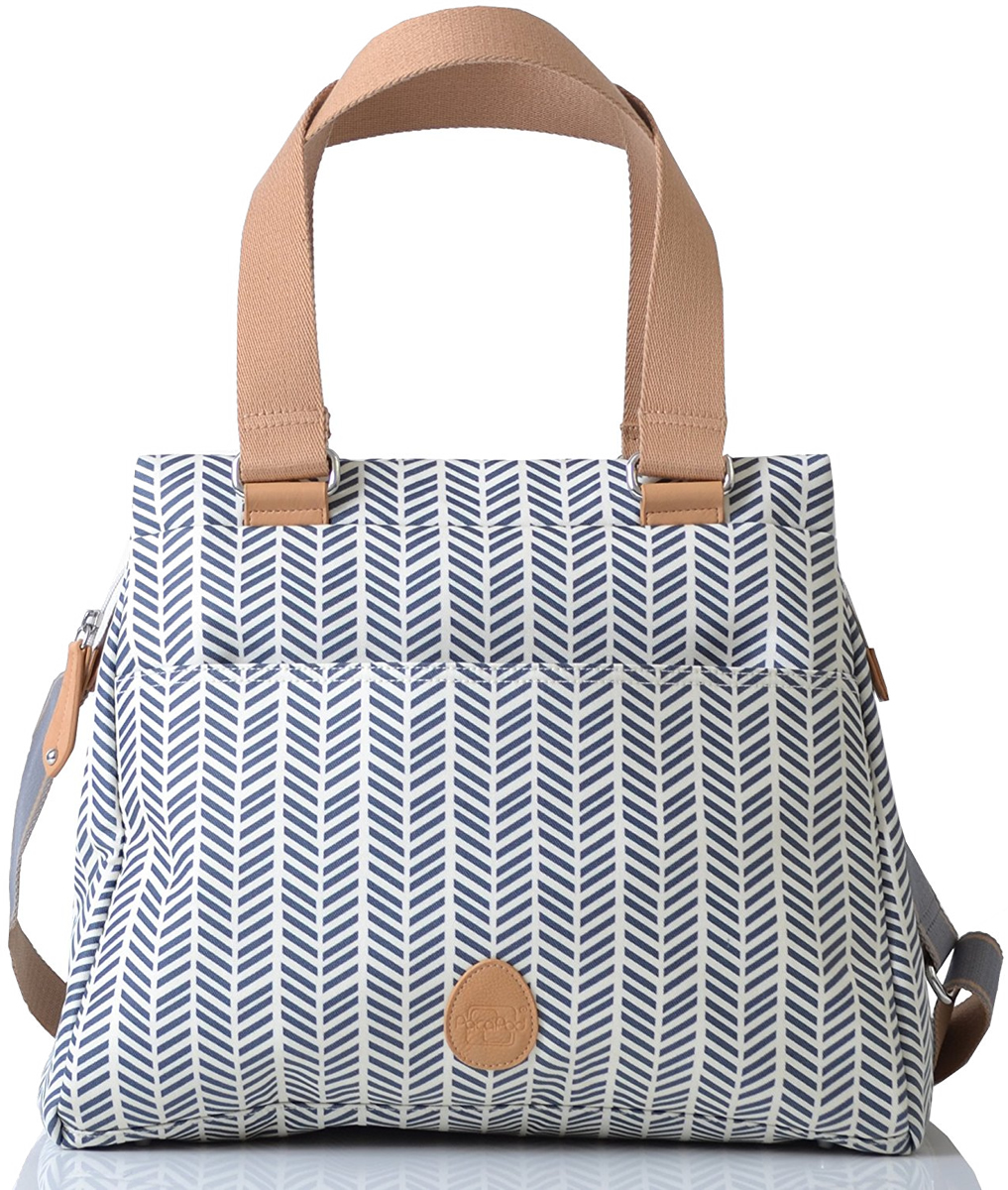 PacaPod Richmond Diaper Bag - Navy Herringbone