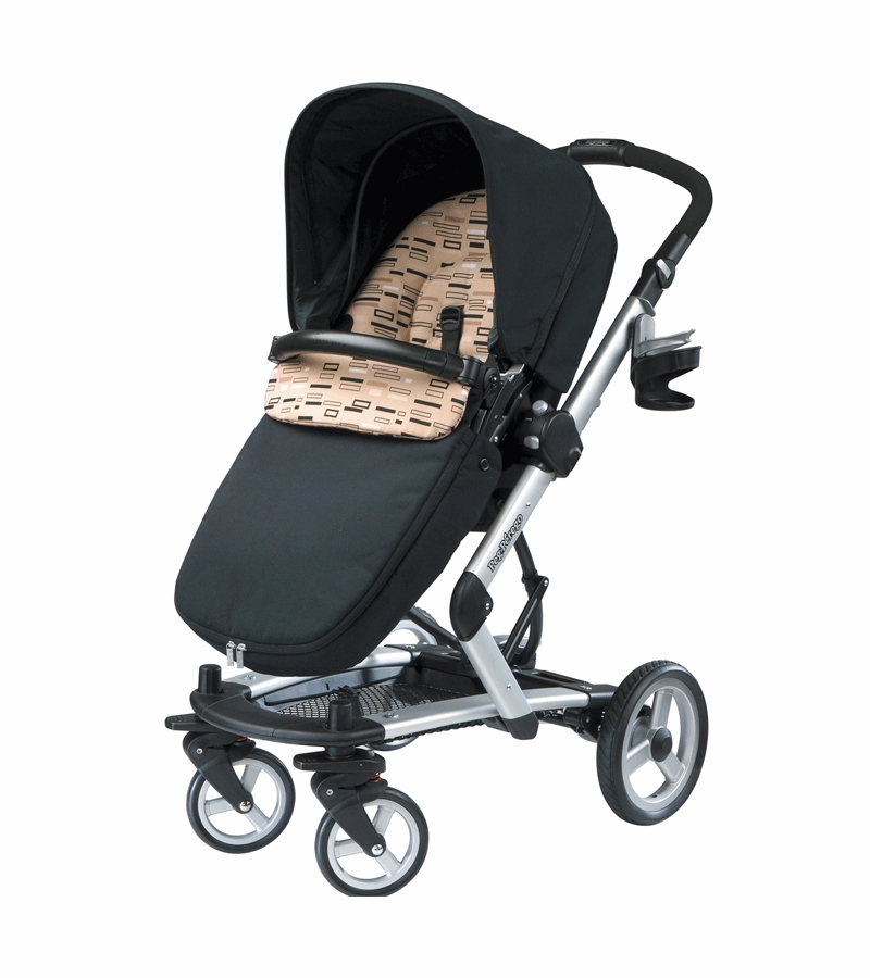peg perego 2010 skate stroller with bassinet in black step. Black Bedroom Furniture Sets. Home Design Ideas