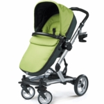 Peg Perego 2010 Skate Stroller with Bassinet in Kiwi