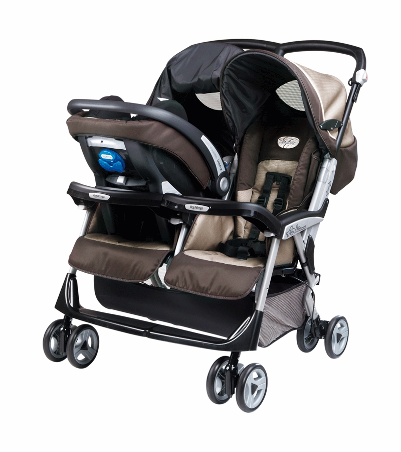 peg perego aria twin 60 40 double stroller in java. Black Bedroom Furniture Sets. Home Design Ideas