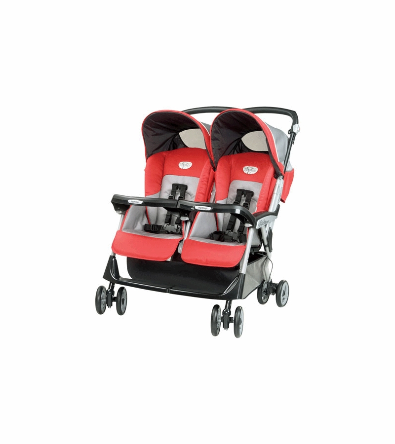 peg perego aria twin 60 40 stroller 2008 tango red. Black Bedroom Furniture Sets. Home Design Ideas