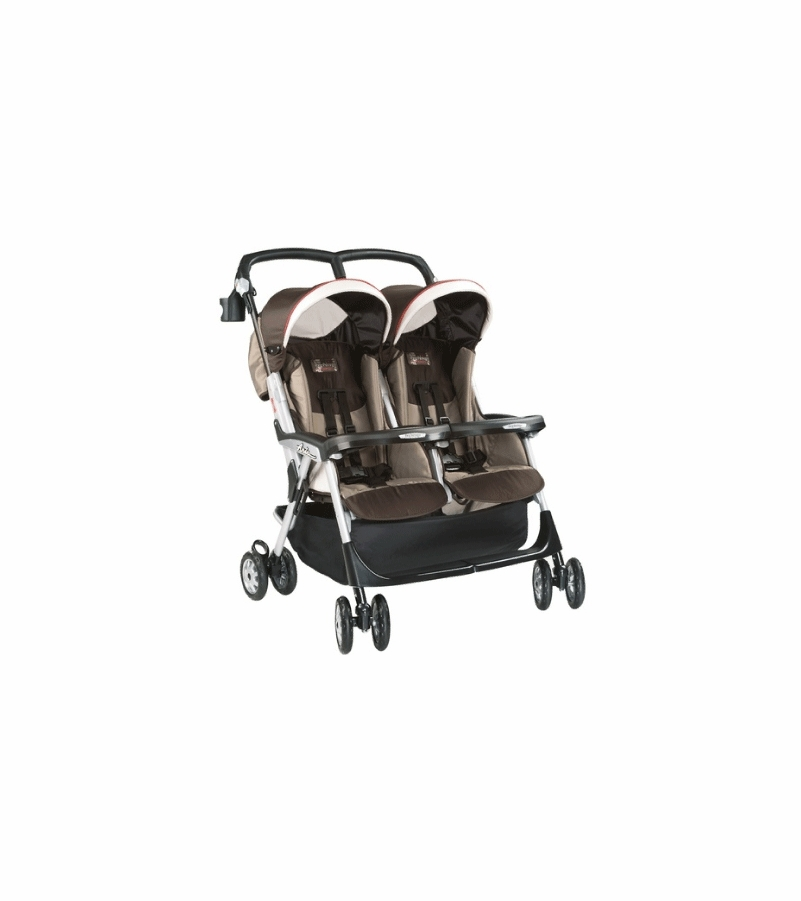 peg perego aria twin stroller 2007 toffee fabric. Black Bedroom Furniture Sets. Home Design Ideas