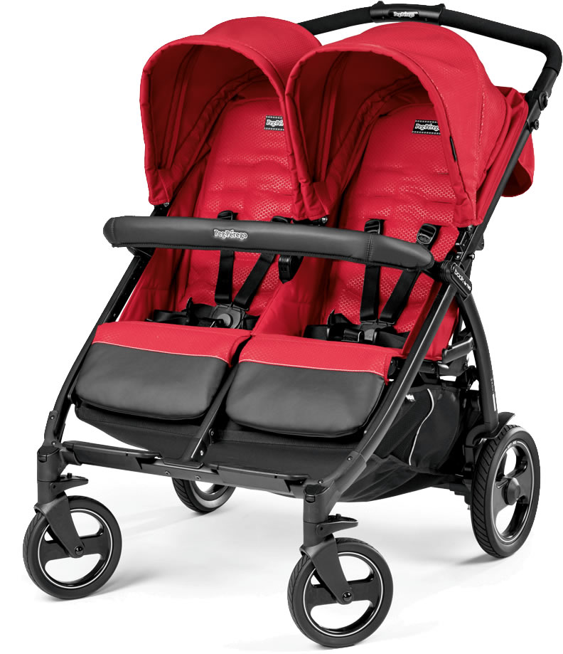 Peg-Perego Book for Two Double Stroller - Mod Red