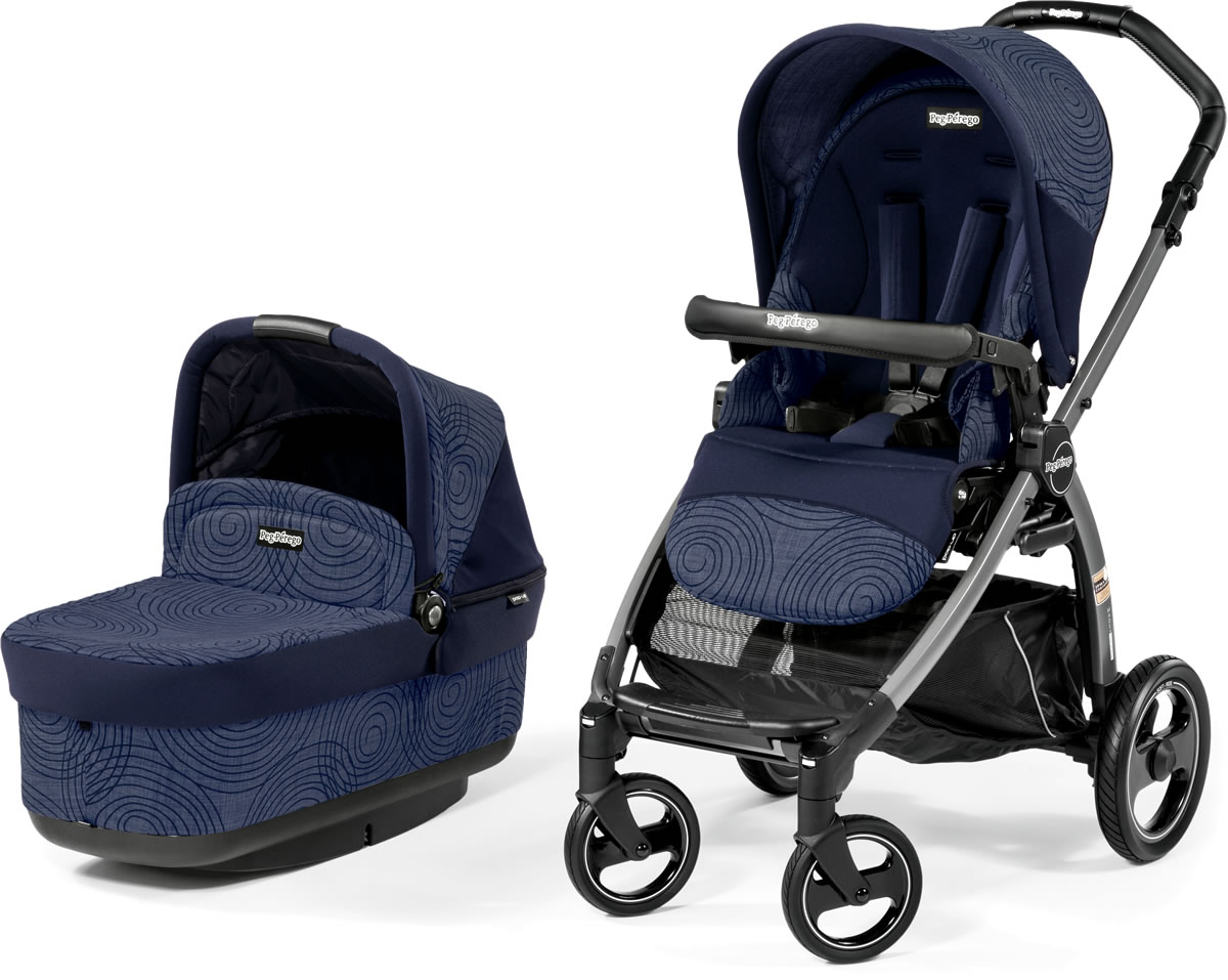 Peg-Perego Book Pop Up Stroller - Circles Blue