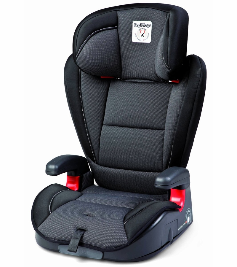 peg perego hbb 120 high back booster car seat in crystal black. Black Bedroom Furniture Sets. Home Design Ideas