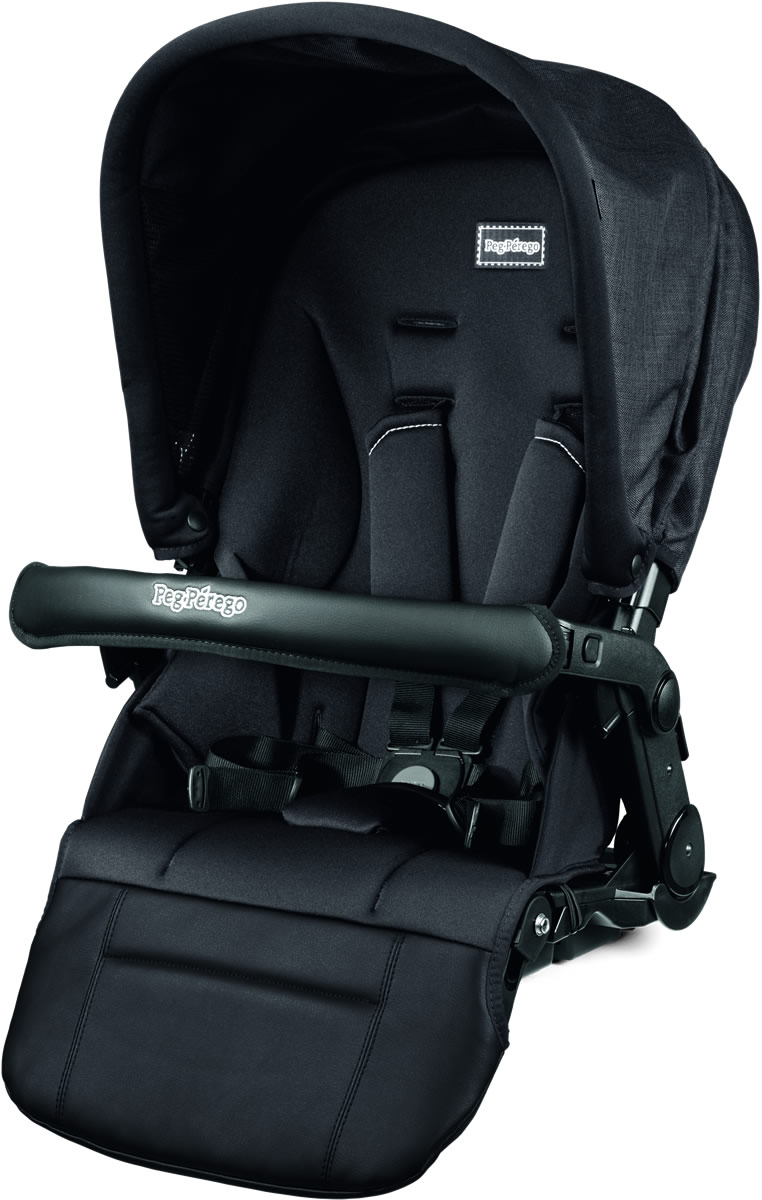 Peg-Perego Pop-Up Seat for Team, Duette & Triplette Strollers - Onyx