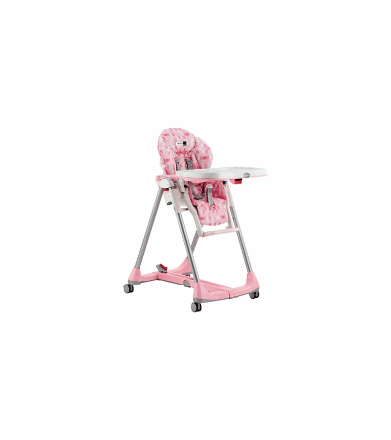 Peg Perego Prima Pappa Diner High Chair 2006 Pink Cube