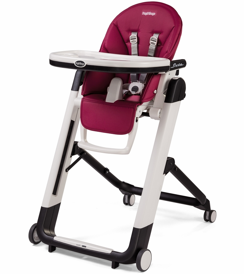 Peg perego siesta high chair berry for Chaise haute peg perego