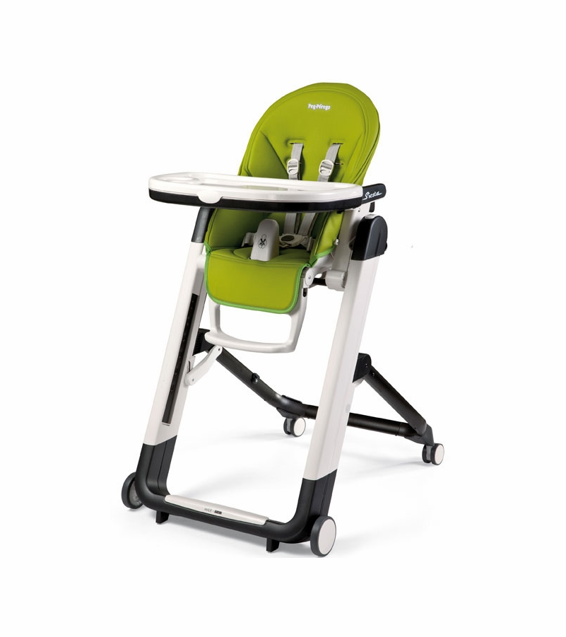 Peg perego siesta high chair mela apple green for Chaise haute peg perego