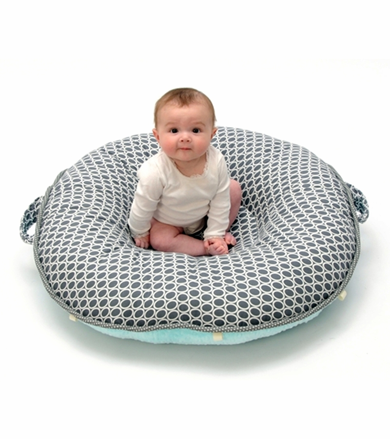 Floor Nanny Pillow For Baby : Pello Floor Pillow - Majestic/Gray