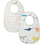 Petit Pehr Bibs, Set of 2 - Noah's Ark / Painted Dots