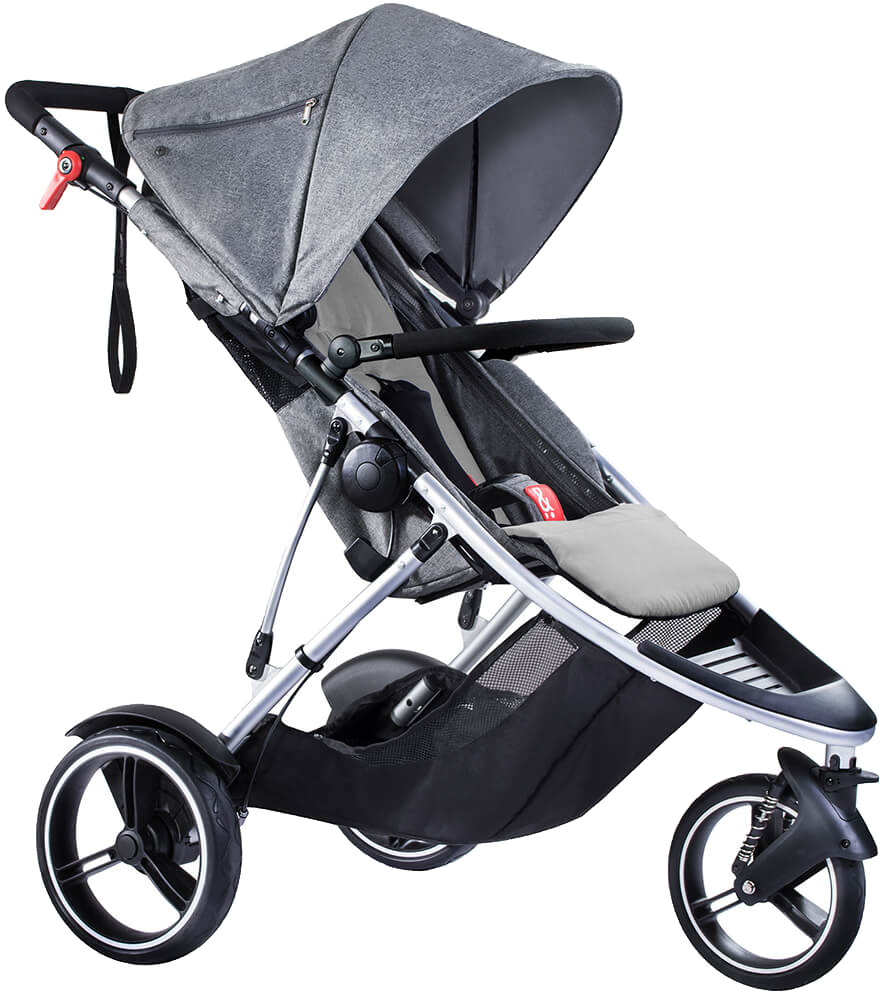 Phil & Teds Dash Stroller - Grey