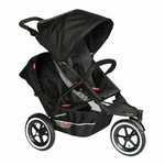 Phil & Teds Explorer Buggy Stroller with Double Kit - Black