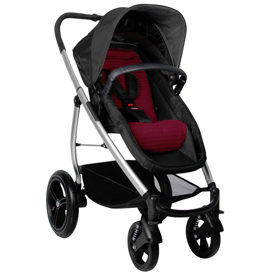 Phil & Teds Smart Lux Stroller - Ruby