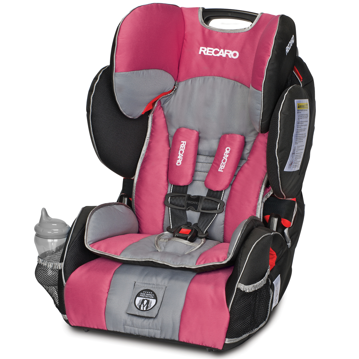 recaro performance sport combination harness to booster car seat rose