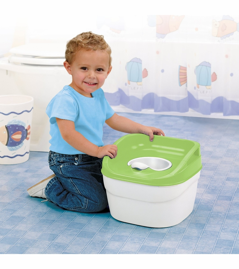 Item # PT046GRN2  sc 1 st  Albee Baby & Safety 1st Try! Potty Trainer u0026 Step Stool - Green islam-shia.org