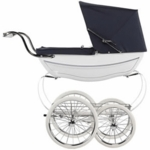Silver Cross Oberon Doll Stroller in White/Navy