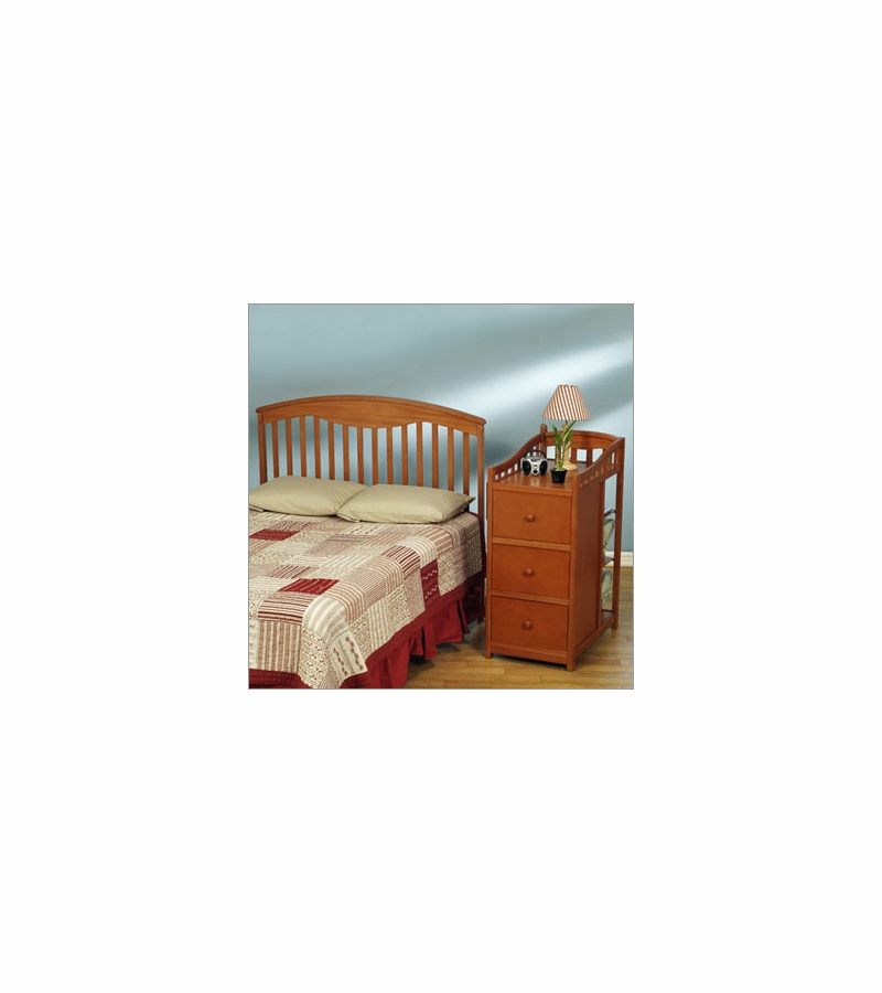 Simplicity Christina Crib N Changer Combo In Pecan Finish