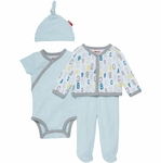 Skip Hop ABC-123 Welcome Home 4-Piece Set - Blue (3 Months)