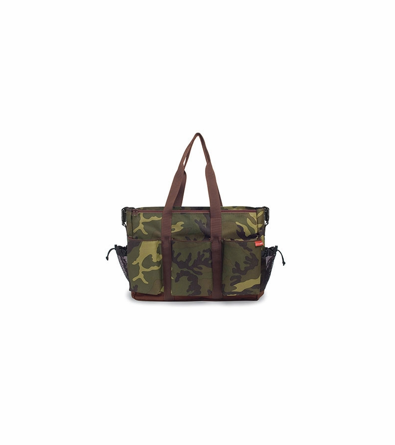 skip hop duo double diaper bag green camo. Black Bedroom Furniture Sets. Home Design Ideas
