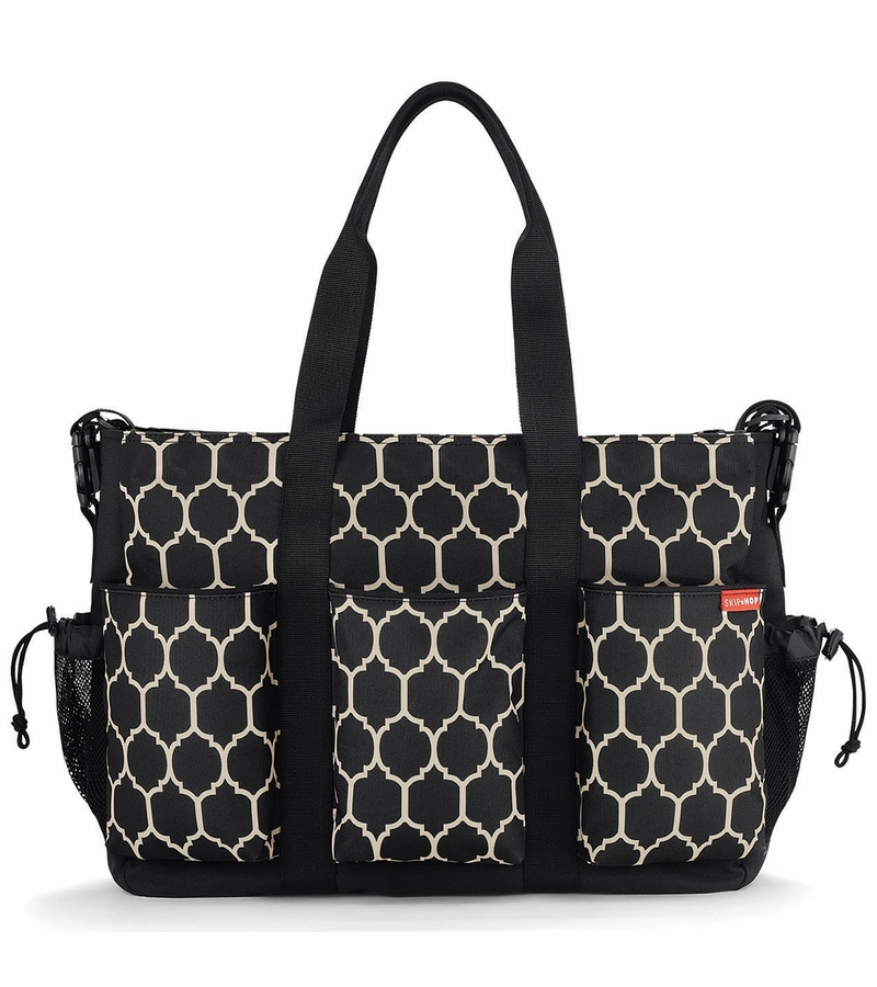 skip hop duo double diaper bag onyx tile. Black Bedroom Furniture Sets. Home Design Ideas