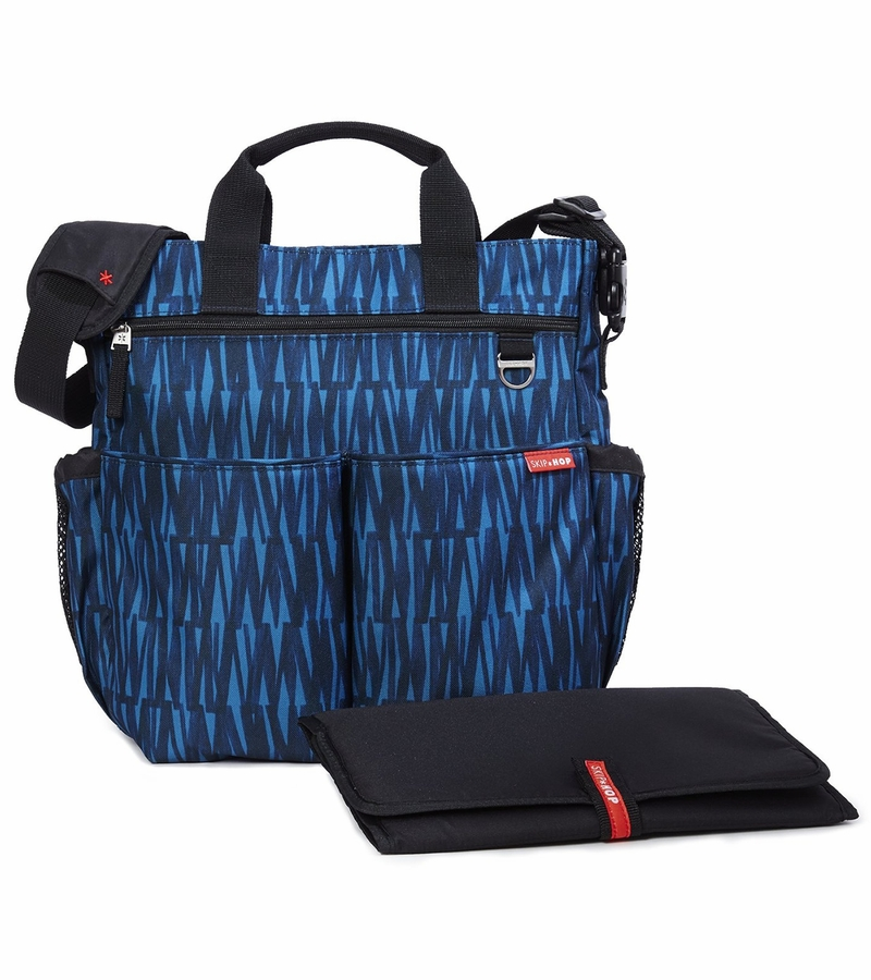 skip hop duo signature diaper bag blue graffiti. Black Bedroom Furniture Sets. Home Design Ideas