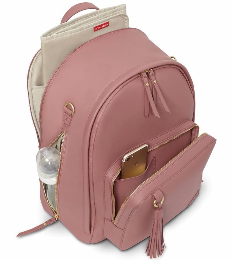 skip hop greenwich simply chic backpack dusty rose. Black Bedroom Furniture Sets. Home Design Ideas
