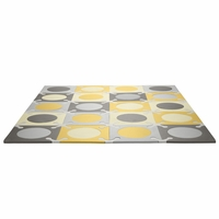 Skip Hop Playspot Interlocking Foam Tiles in Gold / Grey