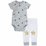 Skip Hop Star-Struck Short Sleeve Bodysuit & Pant Set - Stars (3 Months)