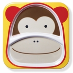 Skip Hop Zoo Divided Plate in Monkey