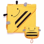 Skip Hop ZOO Hooded Towel & Mitt Set in Bee